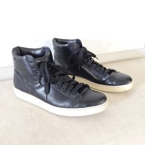 Black Tom Ford Russel Hi Top Sneakers 12.5